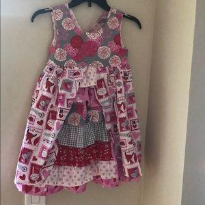 Pink Vday dress size 7